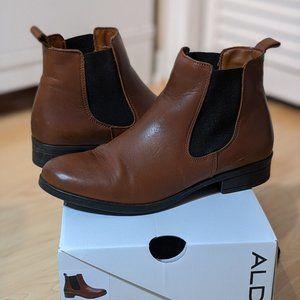 ALDO Women's Wicoeni Cognac Chelsea Leather Boots